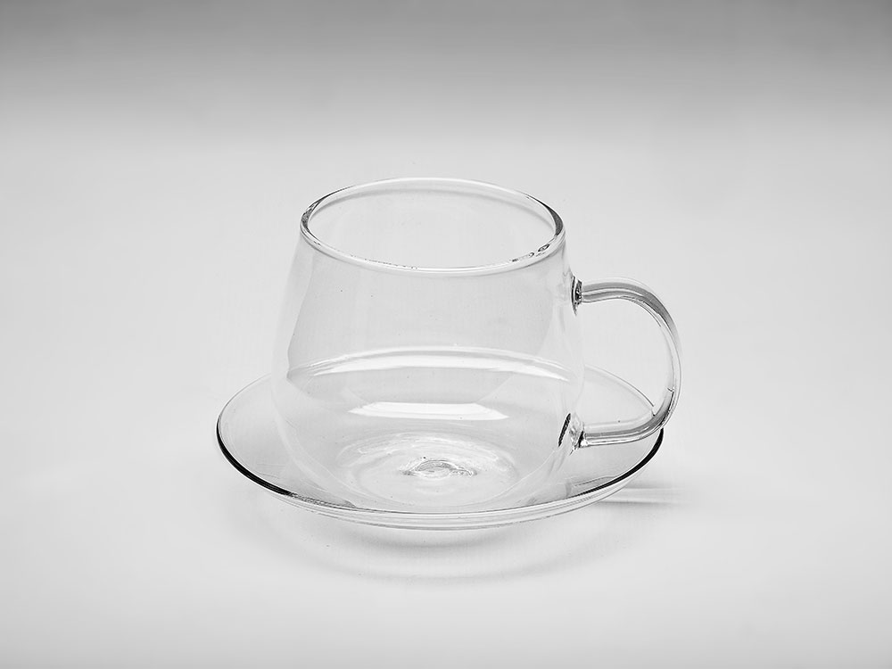 GLASS CUP & SAUCER 250ML