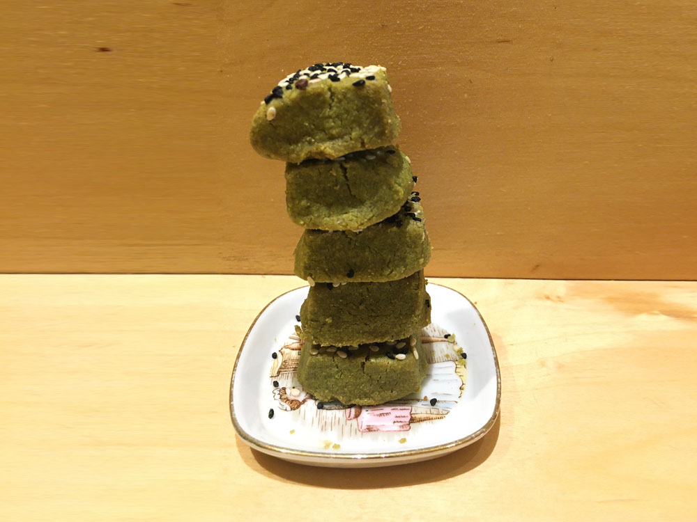 HOMEMADE MATCHA COOKIES