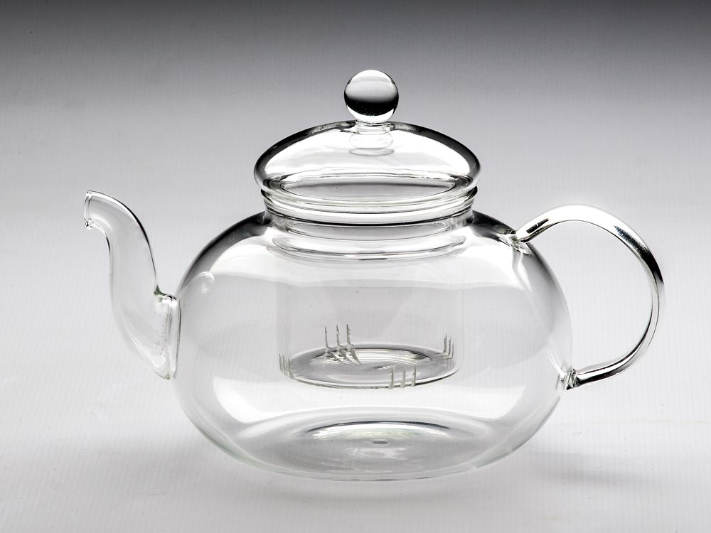GLASS TEAPOT & STRAINER OLYMPUS 1000ML