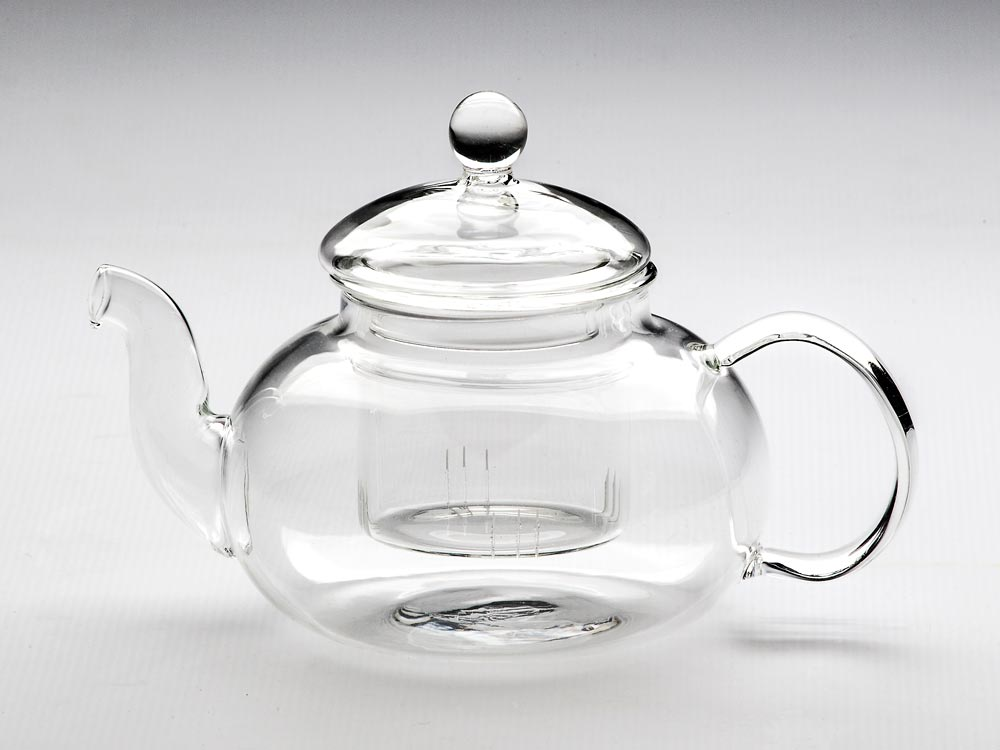 GLASS TEAPOT & STRAINER PARNASSOS 600ML