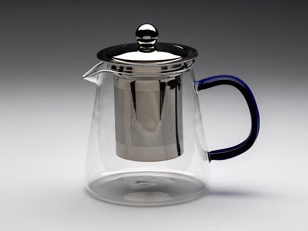 GLASS TEAPOT WITH METAL STRAINER & LID PINDOS 500ML